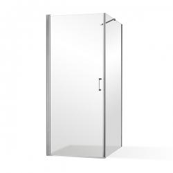 Roltechnik - Otevírací jednokřídlé sprchové dveře OBCO1 s pevnou stěnou OBCB Čtvercový kout se dveřmi 800 mm a OBCO1-80_OBCB-80 (RT OBCO1-80_OBCB-80)