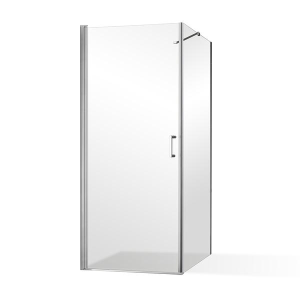 Roltechnik - Otevírací jednokřídlé sprchové dveře OBCO1 s pevnou stěnou OBCB Čtvercový kout se dveřmi 900 mm a OBCO1-90_OBCB-90 (RT OBCO1-90_OBCB-90)