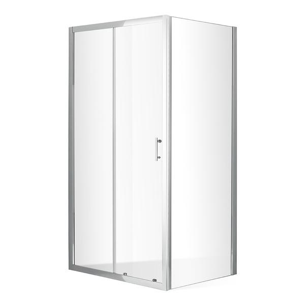Roltechnik - Posuvné sprchové dveře OBD2 s pevnou stěnou OBB Obdélníkový sprchový kout 1200x900 mm OBD2-120_OBB-90 (RT OBD2-120_OBB-90)