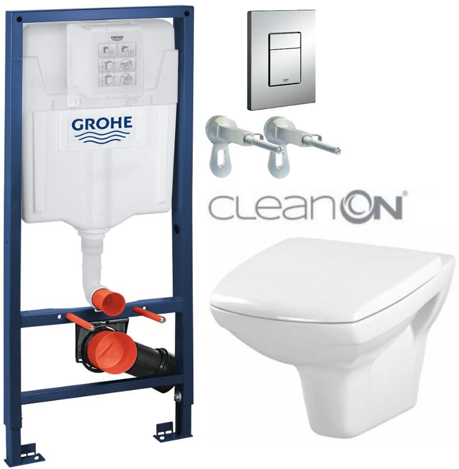 AKCE/SET/GROHE - GROHE -Rapid SL Rapid SL pre závesné WC 38528SET + WC CERSANIT CARINA CLEAN ON + SEDADLO (38772001 CA1)