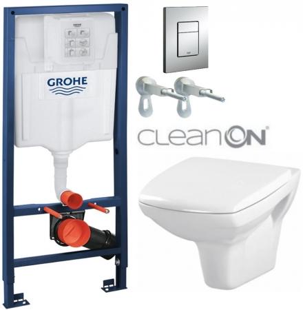 AKCE/SET/GROHE - Rapid SL Rapid SL pre závesné WC 38528SET + WC CERSANIT CARINA CLEAN ON + SEDADLO (38772001 CA1)
