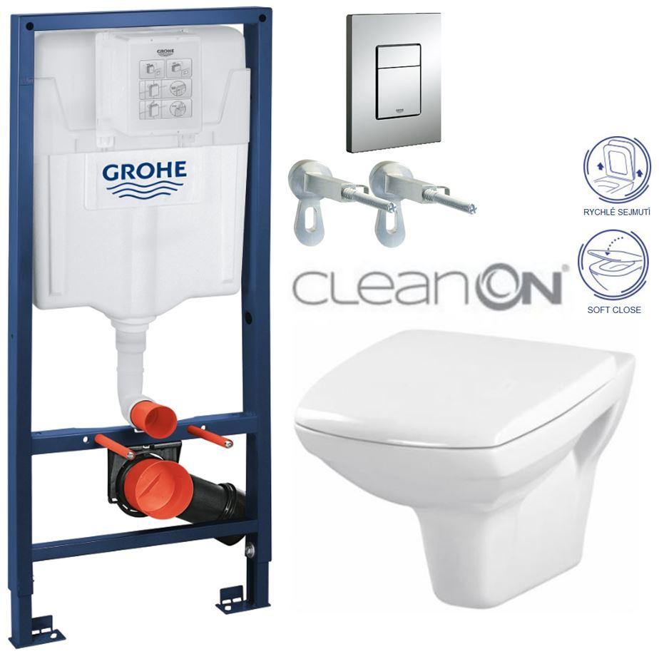 AKCE/SET/GROHE - GROHE -Rapid SL Rapid SL pre závesné WC 38528SET + WC CERSANIT CARINA CLEAN ON + SEDADLO (38772001 CA2)