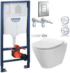 Rapid SL pre závesné WC 38528SET s chrómovou doskou + WC CERSANIT CLEANON CITY (38772001 CI1)