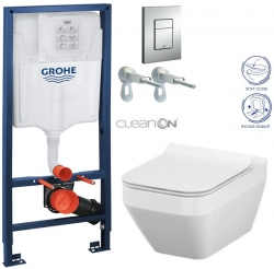 AKCE/SET/GROHE - Rapid SL Rapid SL pre závesné WC 38528SET + WC CERSANIT CREA HRANATÉ CLEAN ON + SEDADLO (38772001 CR2)