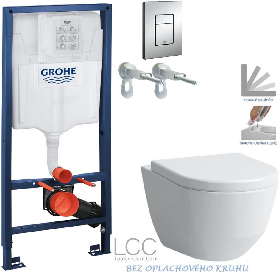 /SET/GROHE - Rapid SL Rapid SL pre závesné WC 38528SET + WC LAUFEN PRO LCC RIMLESS + SEDADLO (38772001 LP2)