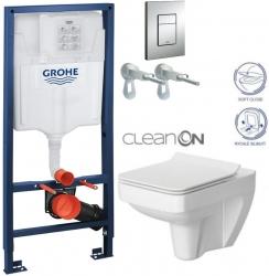 AKCE/SET/GROHE - Rapid SL Rapid SL pre závesné WC 38528SET + WC CERSANIT SPLENDOUR CLEAN ON + SEDADLO (38772001 SP1)
