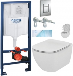 AKCE/SET/GROHE - Rapid SL Rapid SL pre závesné WC 38528SET + WC TESI so sedadlom SoftClose, AquaBlade (38772001 TE1)