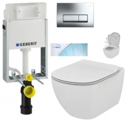 AKCE/SET/GEBERIT - SET KOMBIFIXBasic vrátane ovládacieho tlačidla DELTA 51 CR + WC TESI so sedadlom SoftClose, AquaBlade (110.100.00.1 51Cr TE1)
