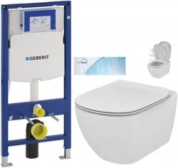 GEBERIT Duofix bez ovládacej dosky + WC Ideal Standard Tesi so sedadlom SoftClose, AquaBlade (111.300.00.5 TE1)