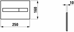 AKCE/SET/LAUFEN - Rámový podomietkový modul CW1 SET BIELA + ovládacie tlačidlo BIELE + WC TESI so sedadlom SoftClose, AquaBlade (H8946600000001BI TE1), fotografie 8/7