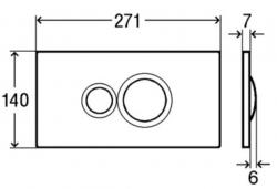 AKCE/SET/VIEGA - Eko PLUS modul do jadra WC čelnej ovládanie SET CHRÓM + ovládacie tlačidlo CHRÓM + WC TESI so sedadlom SoftClose, AquaBlade (V622176CR TE1), fotografie 8/8