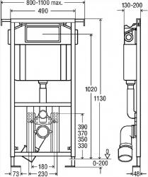 AKCE/SET/VIEGA - Eko PLUS modul do jadra WC čelnej ovládanie SET CHRÓM + ovládacie tlačidlo CHRÓM + WC TESI so sedadlom SoftClose, AquaBlade (V622176CR TE1), fotografie 14/8