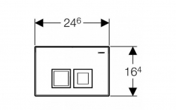 AKCE/SET/GEBERIT - SET Duofix Sada pre závesné WC 458.103.00.1 + tlačidlo DELTA50 CHRÓM + WC ARES + SEDENIE (458.103.00.1 50CR AR1), fotografie 18/9