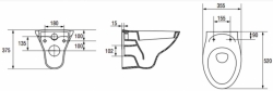 AKCE/SET/GEBERIT - Duofix Sada pre závesné WC 458.103.00.1 + tlačidlo DELTA50 biele + WC ARES + SEDENIE (458.103.00.1 50BI AR1), fotografie 8/9