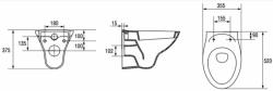 AKCE/SET/LAUFEN - Podomít. systém LIS TW1 SET BIELA + ovládacie tlačidlo BIELE + WC ARES + SEDENIE (H8946630000001BI AR1), fotografie 6/7