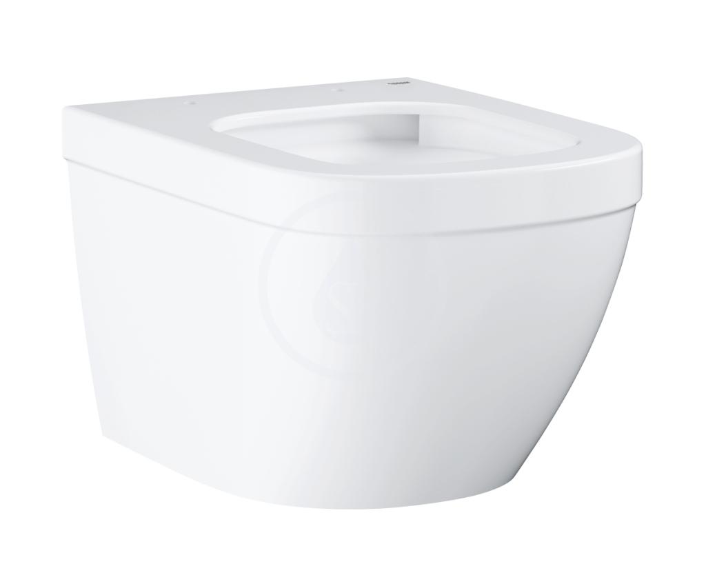 VÝPRODEJ - Euro Ceramic Závěsné WC, rimless, Triple Vortex, alpská bílá (39206000VYP)