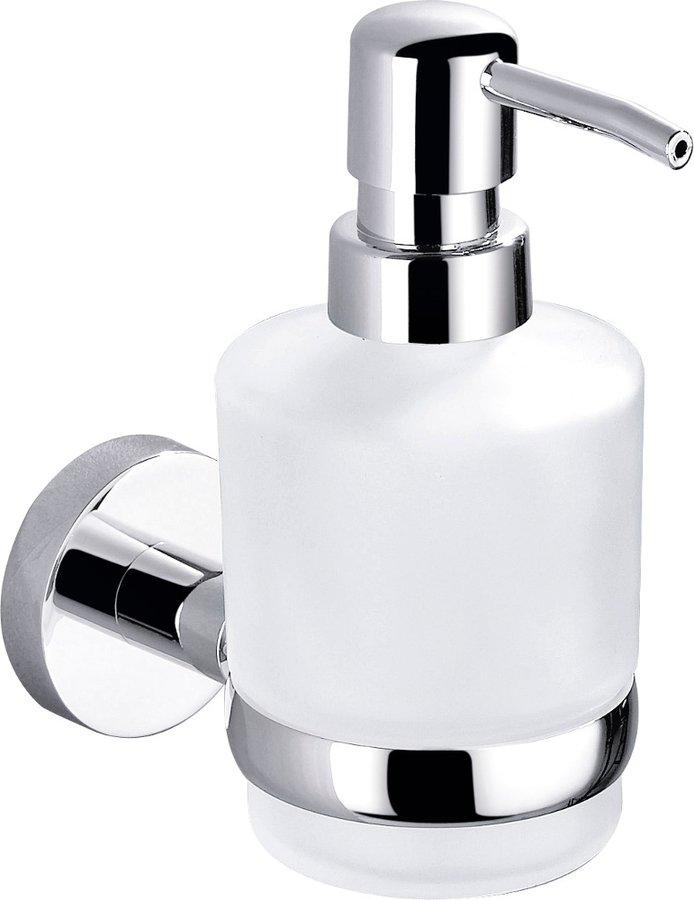 SAPHO - CIRCLE dávkovač mydla,sklenený, chróm (1420-19)