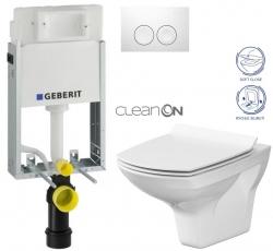 AKCE/SET/GEBERIT - SET KOMBIFIXBasic vrátane ovládacieho tlačidla DELTA 21 Biele pre závesné WC CERSANIT CLEANON CARINA + SEDADLO (110.100.00.1 21BI Ca3)