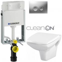 AKCE/SET/GEBERIT - SET KOMBIFIXBasic vrátane ovládacieho tlačidla DELTA 21 MAT pre závesné WC CERSANIT CLEANON CARINA + SEDADLO (110.100.00.1 21MA CA1)