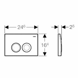 AKCE/SET/GEBERIT - SET KOMBIFIXBasic vrátane ovládacieho tlačidla DELTA 21 MAT pre závesné WC CERSANIT CLEANON CARINA + SEDADLO (110.100.00.1 21MA CA2), fotografie 18/11