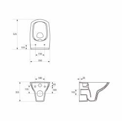 AKCE/SET/GEBERIT - SET KOMBIFIXBasic vrátane ovládacieho tlačidla DELTA 21 MAT pre závesné WC CERSANIT CLEANON CARINA + SEDADLO (110.100.00.1 21MA CA2), fotografie 4/11