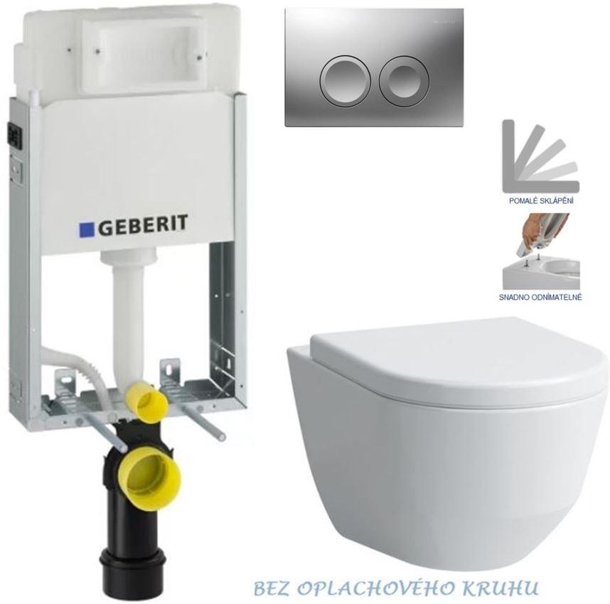 AKCE/SET/GEBERIT - GEBERIT - KOMBIFIXBasic vrátane ovládacieho tlačidla DELTA 21 MAT pre závesné WC LAUFEN PRO RIMLESS + SEDADLO (110.100.00.1 21MA LP1)
