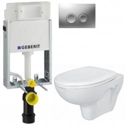 AKCE/SET/GEBERIT - KOMBIFIXBasic vrátane ovládacieho tlačidla DELTA 21 MAT pre závesné WC CERSANIT PRESIDENT + SEDADLO (110.100.00.1 21MA PR1)
