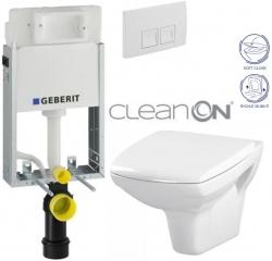 AKCE/SET/GEBERIT - SET KOMBIFIXBasic vrátane ovládacieho tlačidla DELTA 50 Biele pre závesné WC CERSANIT CLEANON CARINA + SEDADLO (110.100.00.1 50BI CA2)
