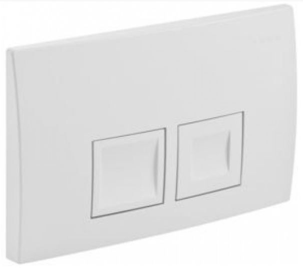 GEBERIT KOMBIFIXBasic vr. bieleho  tlačidla DELTA 50 + WC CERSANIT CLEANON CARINA + SEDADLO (110.100.00.1 50BI CA2)