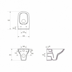 AKCE/SET/GEBERIT - SET KOMBIFIXBasic vrátane ovládacieho tlačidla DELTA 50 Biele pre závesné WC CERSANIT CLEANON CARINA + SEDADLO (110.100.00.1 50BI Ca3), fotografie 12/11