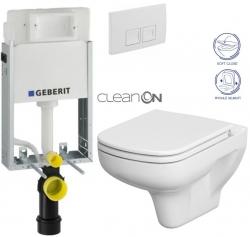 AKCE/SET/GEBERIT - SET KOMBIFIXBasic vrátane ovládacieho tlačidla DELTA 50 Biele pre závesné WC CERSANIT CLEANON COLOUR + SEDADLO (110.100.00.1 50BI CN1)