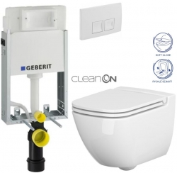 AKCE/SET/GEBERIT - SET KOMBIFIXBasic vrátane ovládacieho tlačidla DELTA 50 Biele pre závesné WC CERSANIT CLEANON CASPIA + SEDADLO (110.100.00.1 50BI CP1)