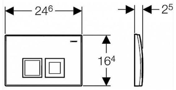GEBERIT KOMBIFIXBasic vr. bieleho  tlačidla DELTA 50 + WC CERSANIT CLEANON CREA štvorec + SEDADLO (110.100.00.1 50BI CR2)