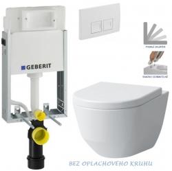 AKCE/SET/GEBERIT - KOMBIFIXBasic vrátane ovládacieho tlačidla DELTA 50 Biele pre závesné WC LAUFEN PRO RIMLESS + SEDADLO (110.100.00.1 50BI LP1)