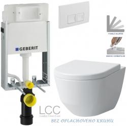 AKCE/SET/GEBERIT - SET KOMBIFIXBasic vrátane ovládacieho tlačidla DELTA 50 Biele pre závesné WC LAUFEN PRO LCC RIMLESS + SEDADLO (110.100.00.1 50BI LP2)