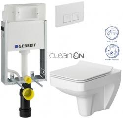 AKCE/SET/GEBERIT - SET KOMBIFIXBasic vrátane ovládacieho tlačidla DELTA 50 Biele pre závesné WC CERSANIT CLEANON SPLENDOUR + SEDADLO (110.100.00.1 50BI SP1)