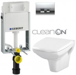 AKCE/SET/GEBERIT - SET KOMBIFIXBasic vrátane ovládacieho tlačidla DELTA 50 CR pre závesné WC CERSANIT CLEANON CARINA + SEDADLO (110.100.00.1 50CR CA1)