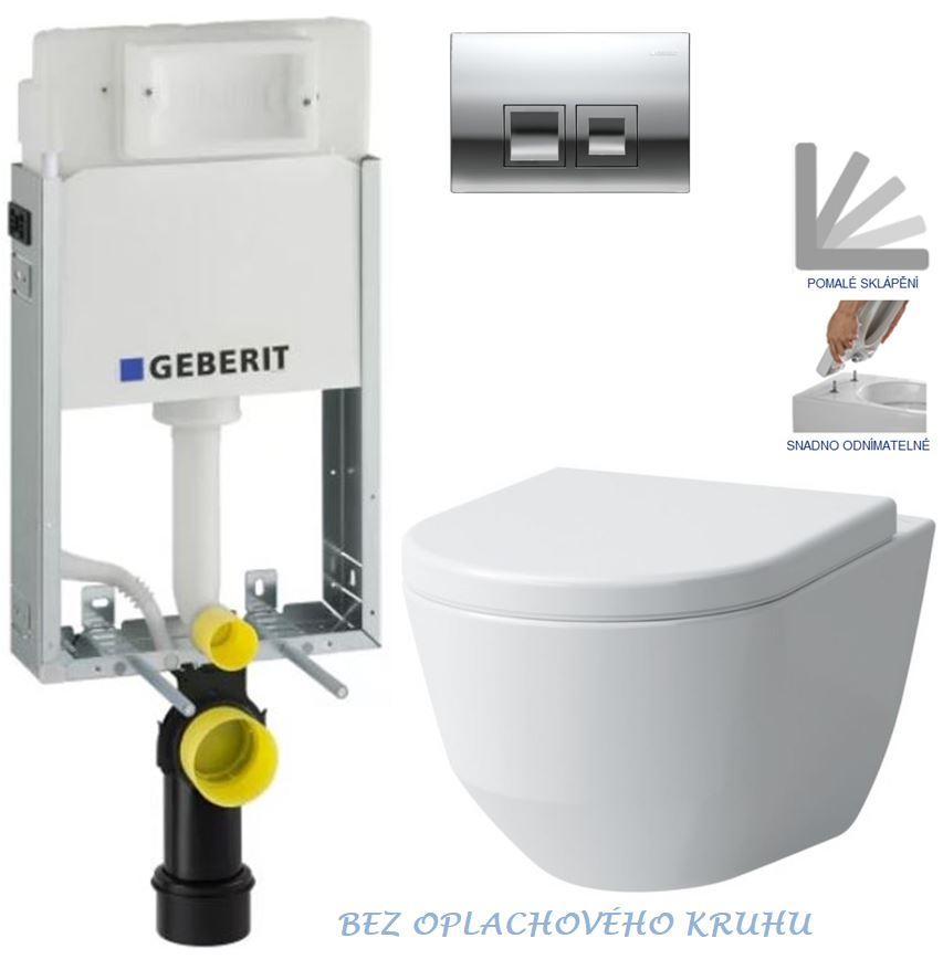AKCE/SET/GEBERIT - GEBERIT - KOMBIFIXBasic vrátane ovládacieho tlačidla DELTA 50 CR pre závesné WC LAUFEN PRO RIMLESS + SEDADLO (110.100.00.1 50CR LP1)
