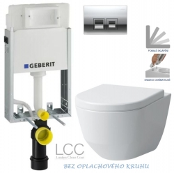 AKCE/SET/GEBERIT - KOMBIFIXBasic vrátane ovládacieho tlačidla DELTA 50 CR pre závesné WC LAUFEN PRO LCC RIMLESS + SEDADLO (110.100.00.1 50CR LP2)
