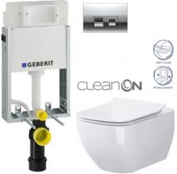 AKCE/SET/GEBERIT - KOMBIFIXBasic vrátane ovládacieho tlačidla DELTA 50 CR pre závesné WC CERSANIT CLEANON METROPOLITAN + SEDADLO (110.100.00.1 50CR ME1)