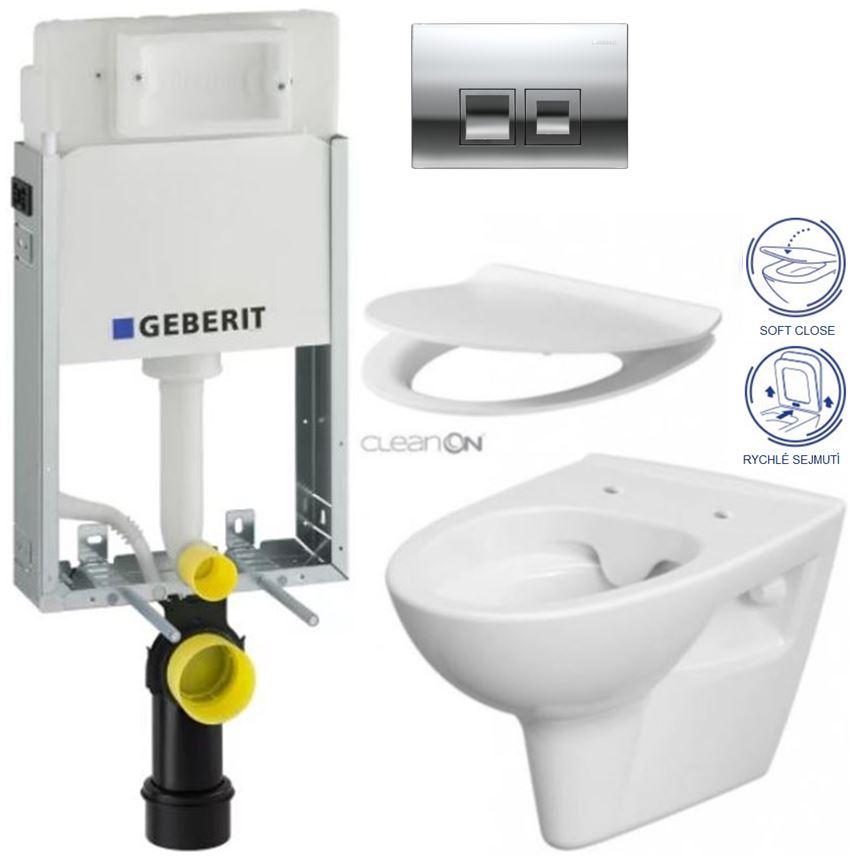 AKCE/SET/GEBERIT - GEBERIT - KOMBIFIXBasic vrátane ovládacieho tlačítkaDELTA 50 CR pre závesné WC CERSANIT CLEANON Parva + SEDADLO (110.100.00.1 50CR PA2)
