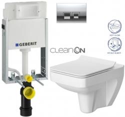 AKCE/SET/GEBERIT - KOMBIFIXBasic vrátane ovládacieho tlačidla DELTA 50 CR pre závesné WC CERSANIT CLEANON SPLENDOUR + SEDADLO (110.100.00.1 50CR SP1)