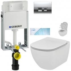 AKCE/SET/GEBERIT - SET KOMBIFIXBasic vrátane ovládacieho tlačidla DELTA 50 CR pre závesné WC TESI so sedadlom SoftClose, AquaBlade (110.100.00.1 50CR TE1)