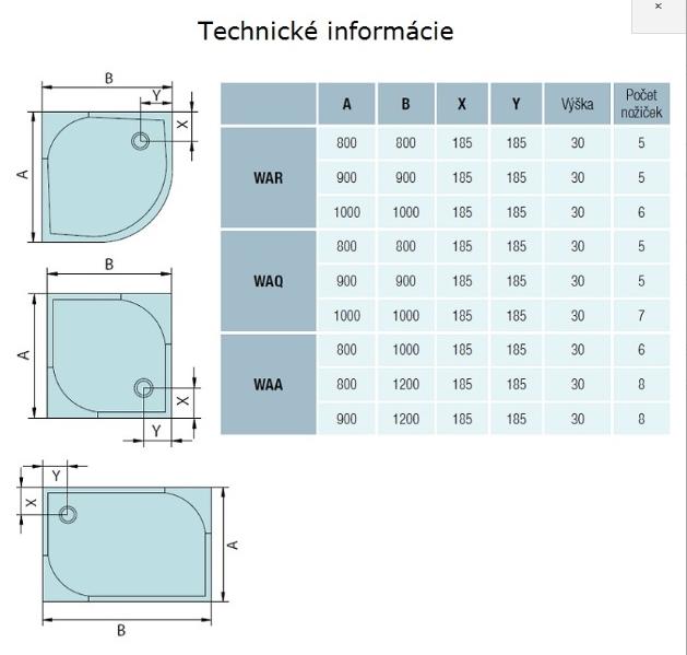 AKCE/SET/SanSwiss - Sprchová vanička PRIM 1/4kruh 800x800, R550 bez nôh-5 Marblemate (PRIM8080R55), fotografie 10/5