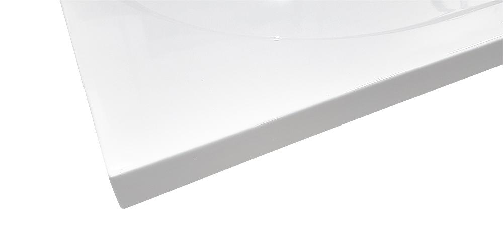 AKCE/SET/SanSwiss - Sprchová vanička PRIM 1/4kruh 800x800, R550 bez nôh-5 Marblemate (PRIM8080R55), fotografie 4/5