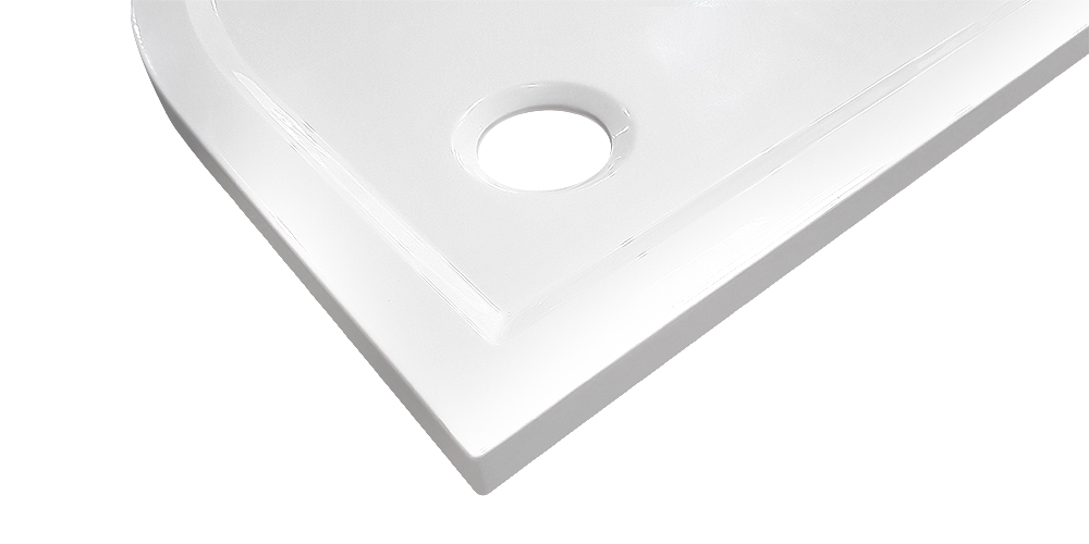 AKCE/SET/SanSwiss - Sprchová vanička PRIM 1/4kruh 800x800, R550 bez nôh-5 Marblemate (PRIM8080R55), fotografie 6/5