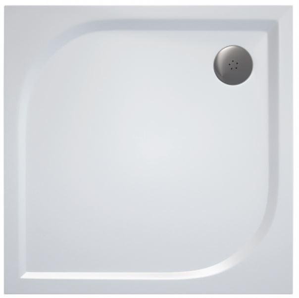 AKCE/SET/SanSwiss - Sprchová vanička PRIM štvorec 900x900 biela BEZ NOH-5 (PRIM9090)