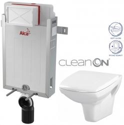 ALCAPLAST  Renovmodul - predstenový inštalačný systém bez tlačidla + WC CERSANIT CLEANON CARINA + SEDADLO (AM115/1000 X CA2)