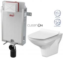 AKCE/SET/ALCAPLAST - SET Renovmodul - predstenový inštalačný systém + WC CERSANIT CLEANON CARINA + SEDADLO (AM115/1000 X CA3)