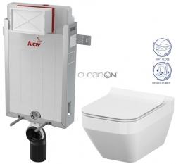 AKCE/SET/ALCAPLAST - SET Renovmodul - predstenový inštalačný systém + WC CERSANIT CLEANON CREA ŠTVOREC + SEDADLO (AM115/1000 X CR2)